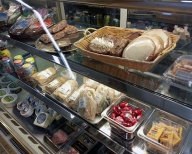 Fresh sandwiches and deli, fresh cookies, fresh bakery goods, all sourced locally