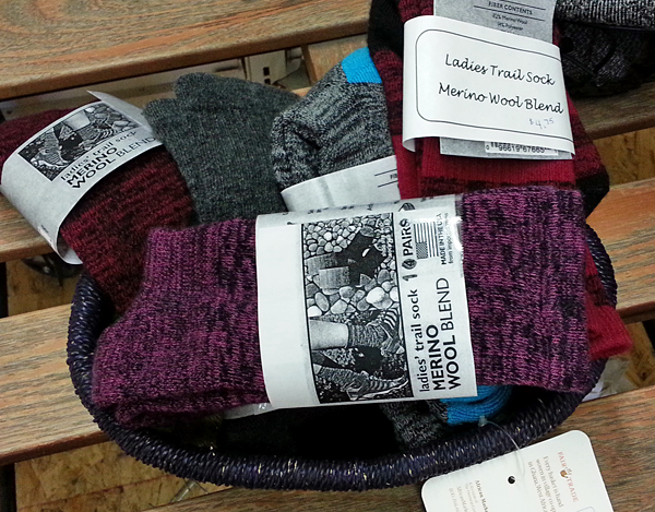 Yes you can buy socks in Quilcene! Right here! Plus more hiking gear for your day trips.